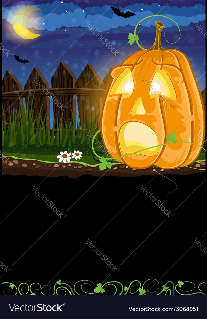 Scared jack o lantern vector | Price: 1 Credit (USD $1)