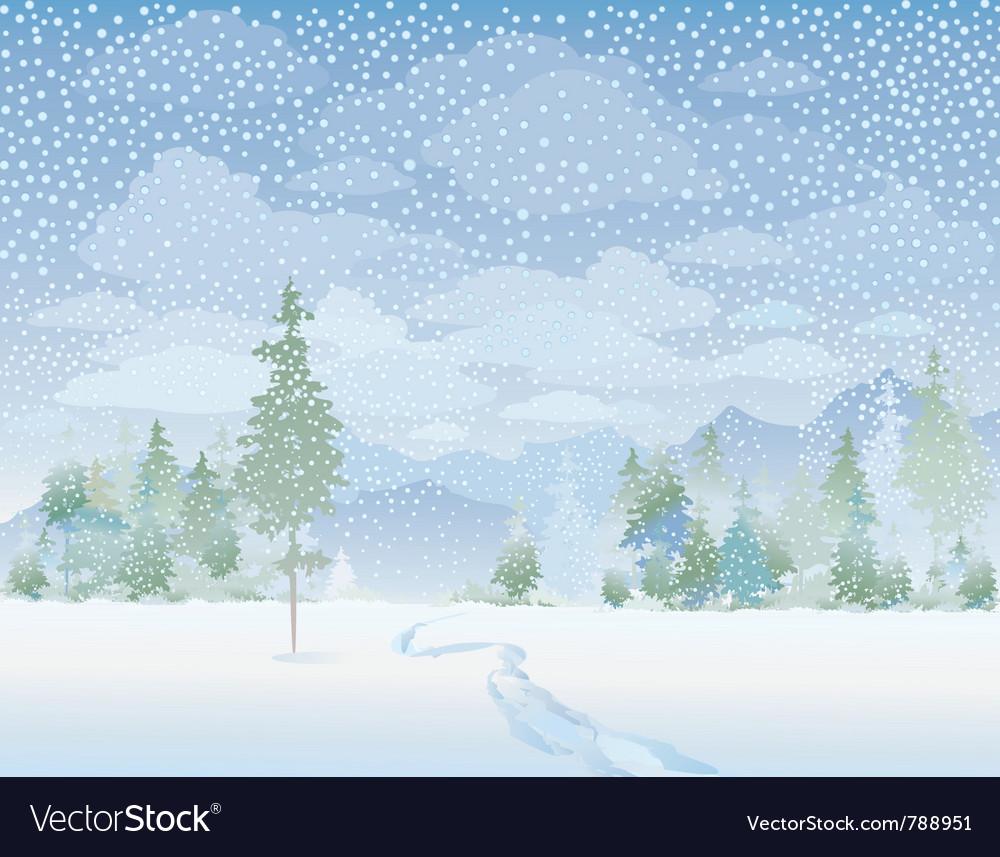 Winter landscape vector   Price: 3 Credit (USD $3)