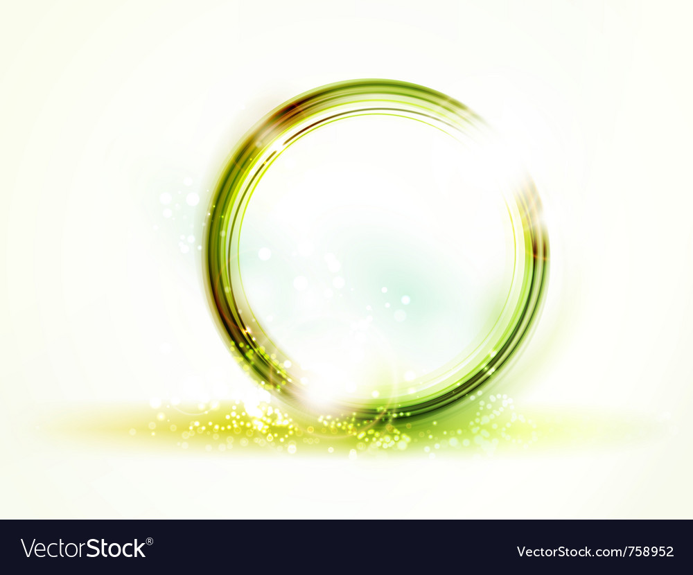 Abstract round green frame vector | Price: 1 Credit (USD $1)
