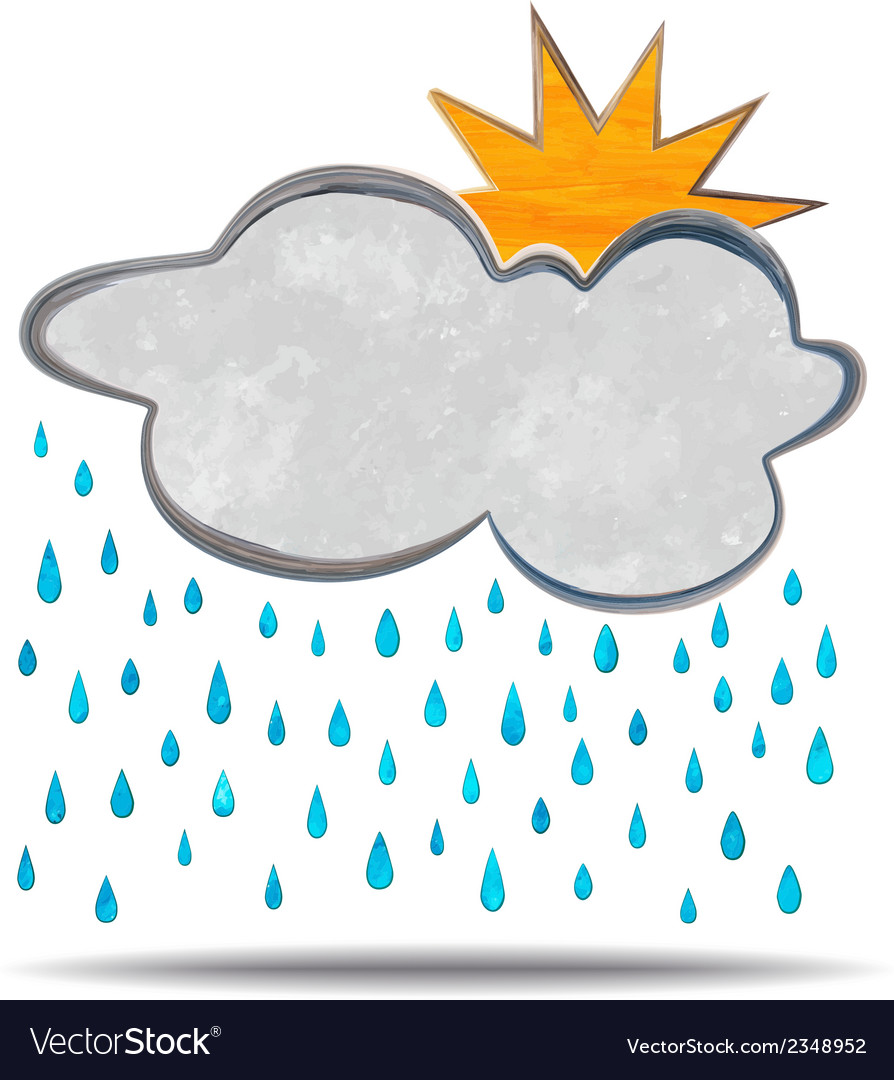 Climate cloud sun and rain vector | Price: 1 Credit (USD $1)