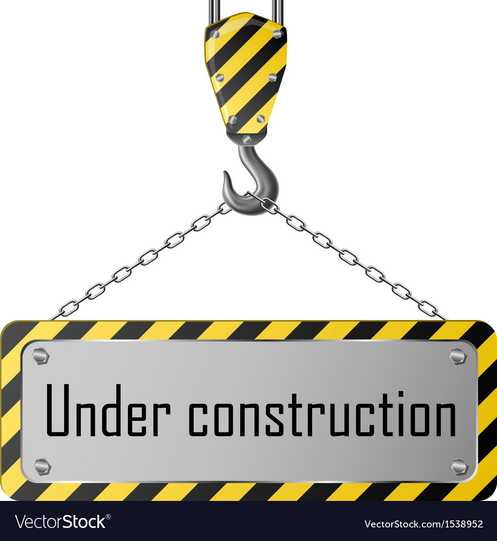 Construction plate with crane hook and chain vector | Price: 1 Credit (USD $1)
