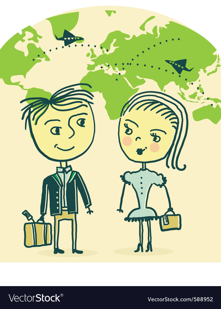 Couple travel vector | Price: 1 Credit (USD $1)