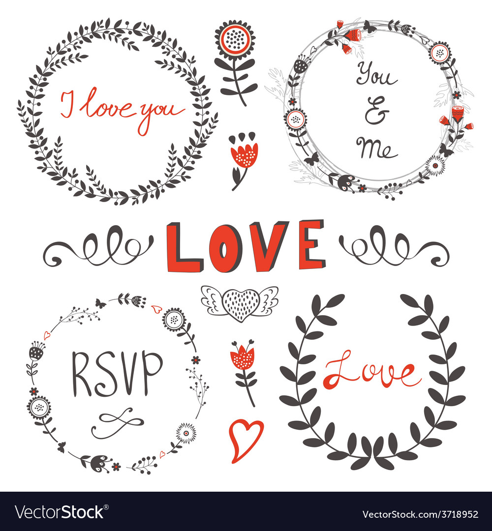 Elegant set of design elements vector | Price: 1 Credit (USD $1)