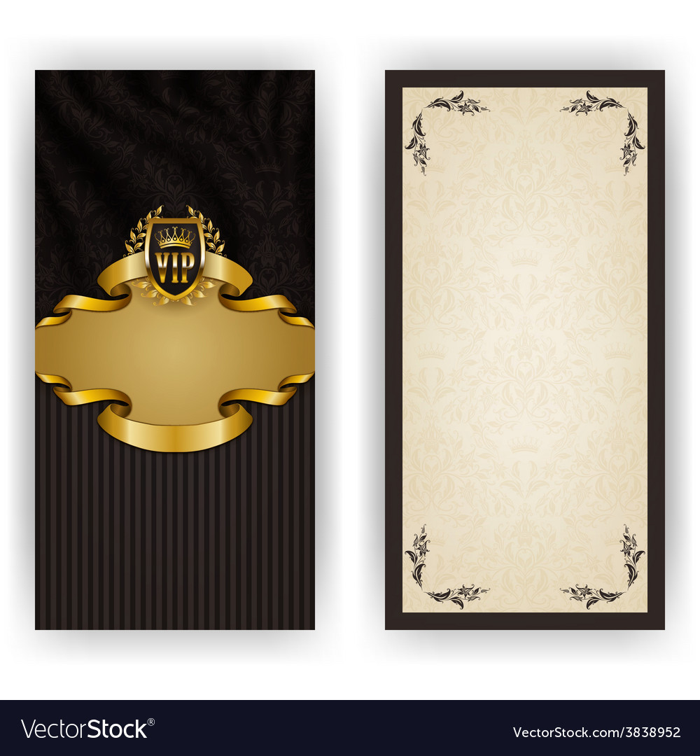 Elegant template for vip luxury invitation vector | Price: 3 Credit (USD $3)