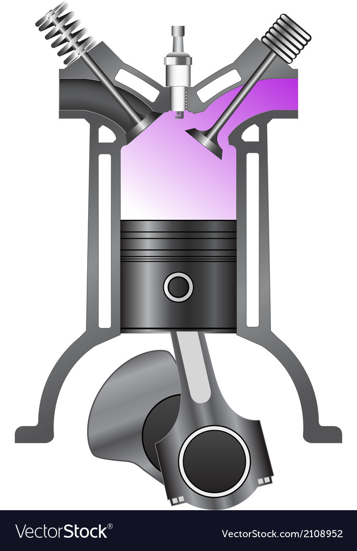 Four stroke engine-intake vector | Price: 1 Credit (USD $1)