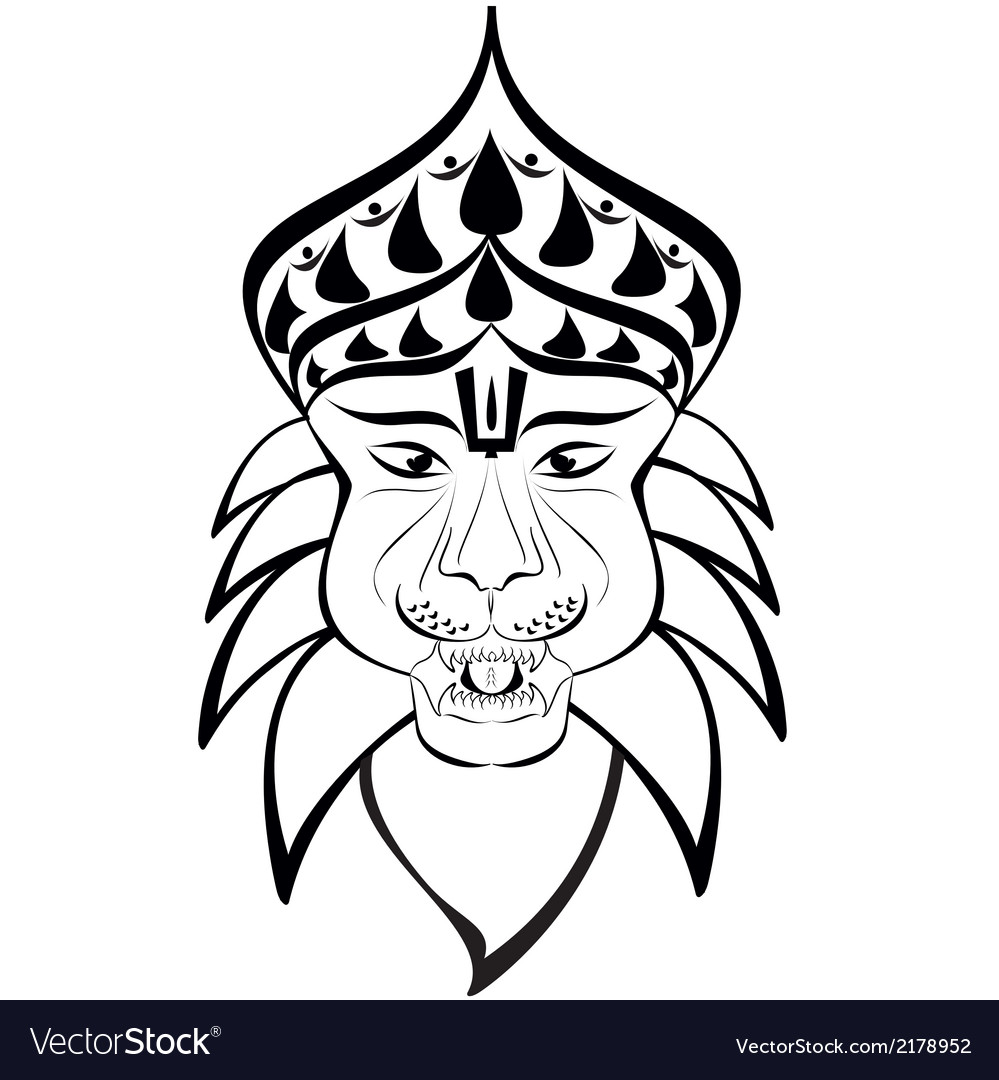 Nrisimha outline vector | Price: 1 Credit (USD $1)