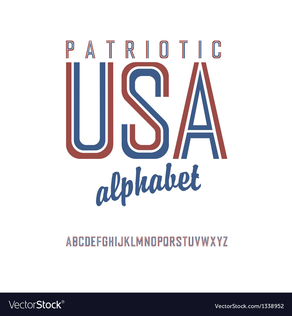 Patriot alphabet vector | Price: 1 Credit (USD $1)