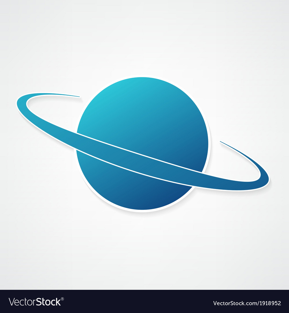 Planet blue icon vector | Price: 1 Credit (USD $1)