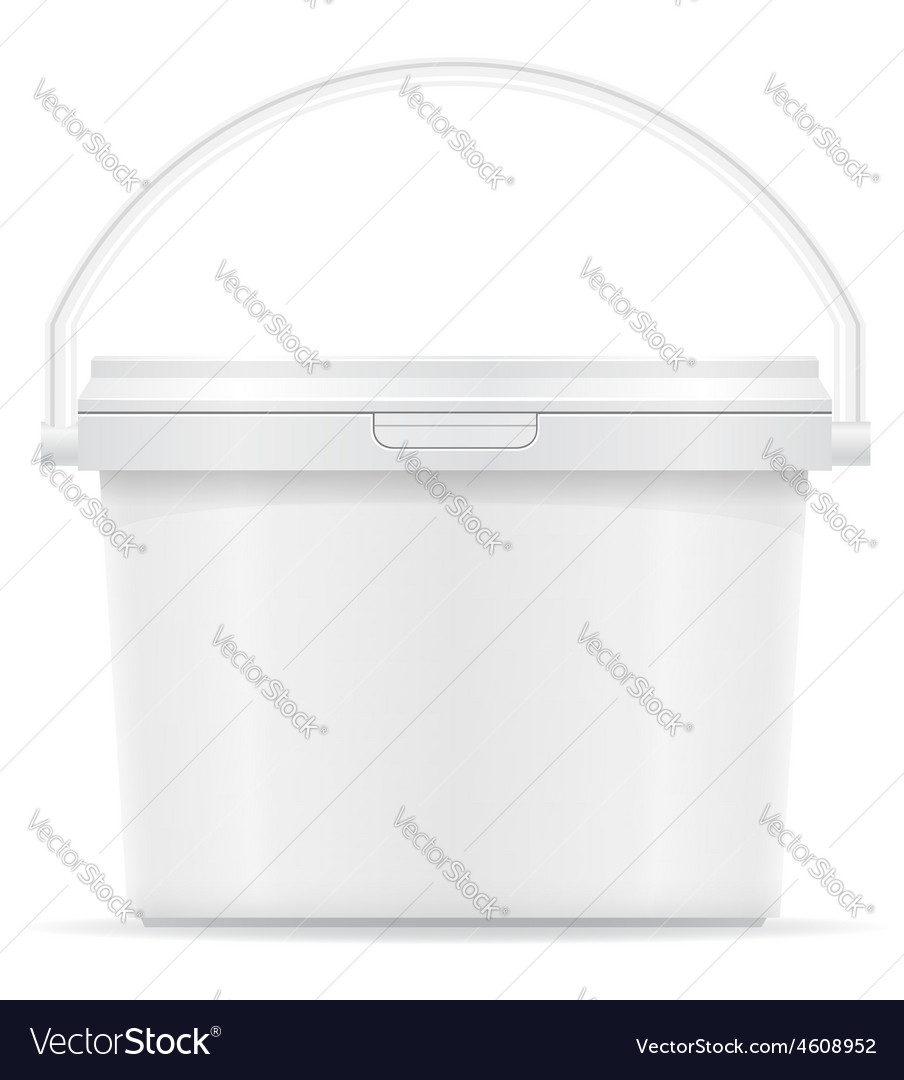 Plastic bucket for paint 05 vector | Price: 3 Credit (USD $3)
