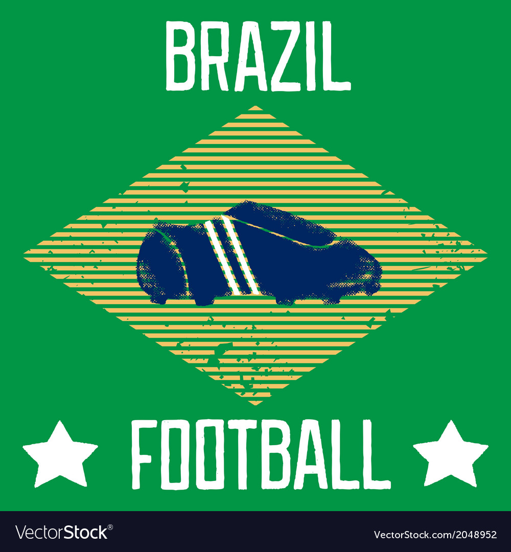 Poster for the world cup in brazil vector | Price: 1 Credit (USD $1)