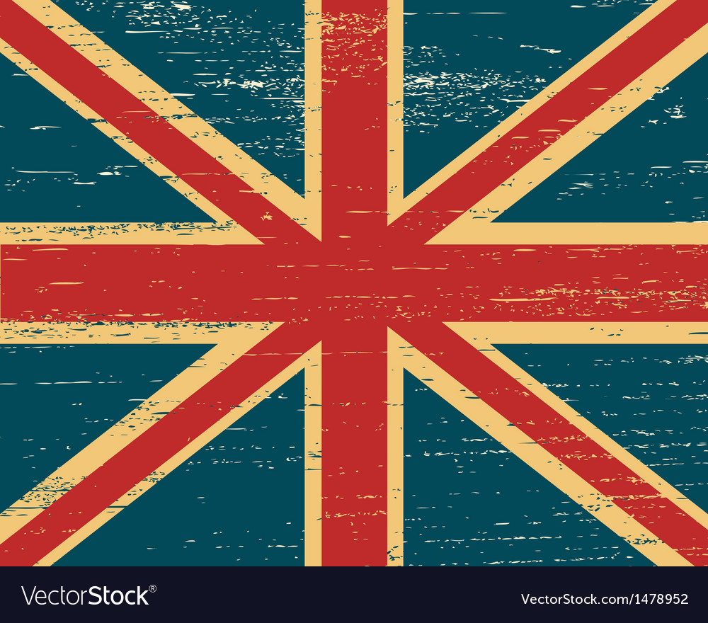Shabby british flag vector | Price: 1 Credit (USD $1)