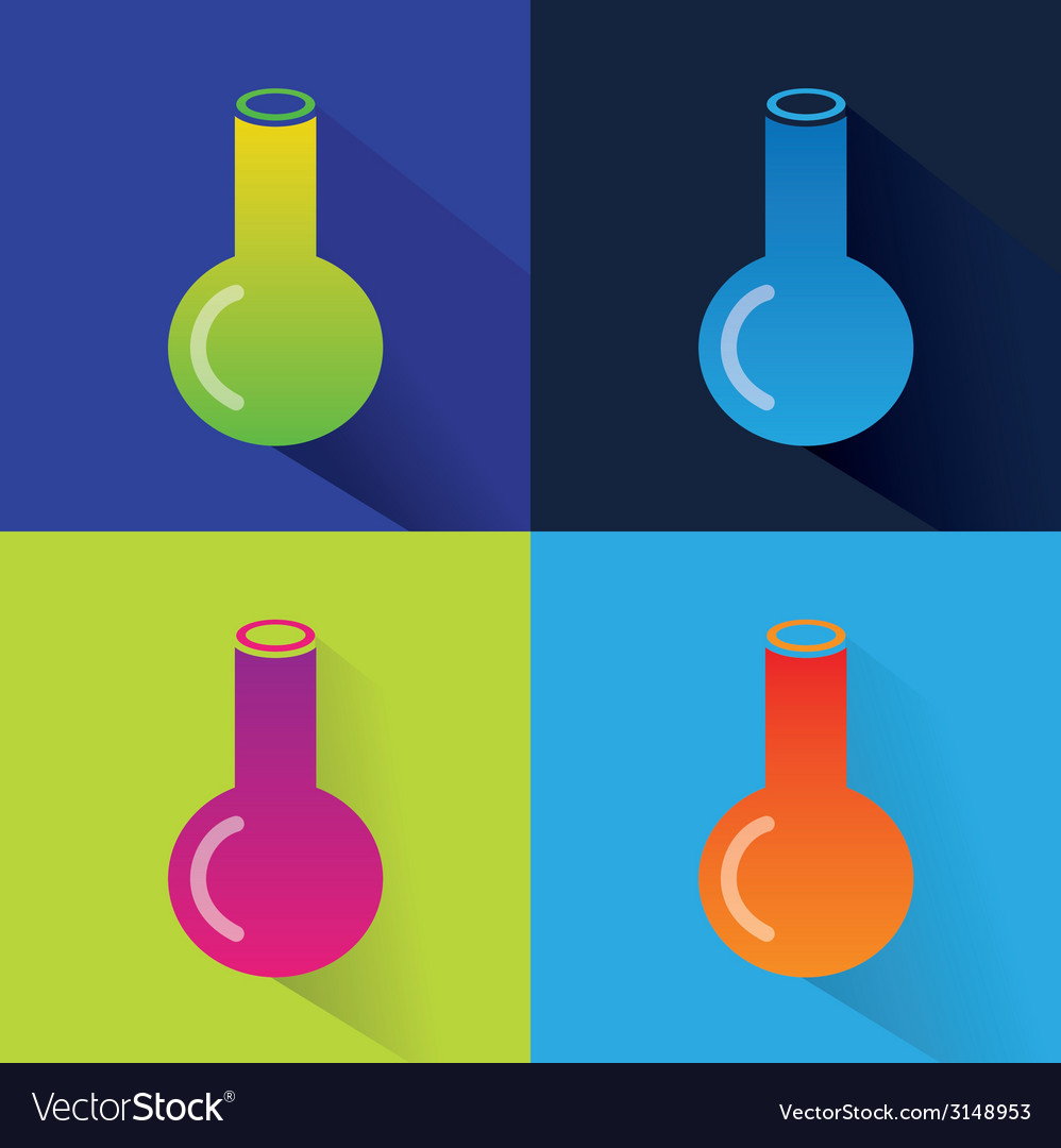 Abstract chemistry icons isolated on colored vector | Price: 1 Credit (USD $1)