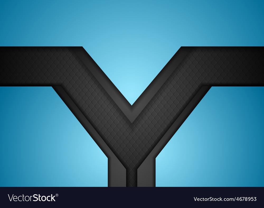 Bright blue black tech corporate background vector   Price: 1 Credit (USD $1)