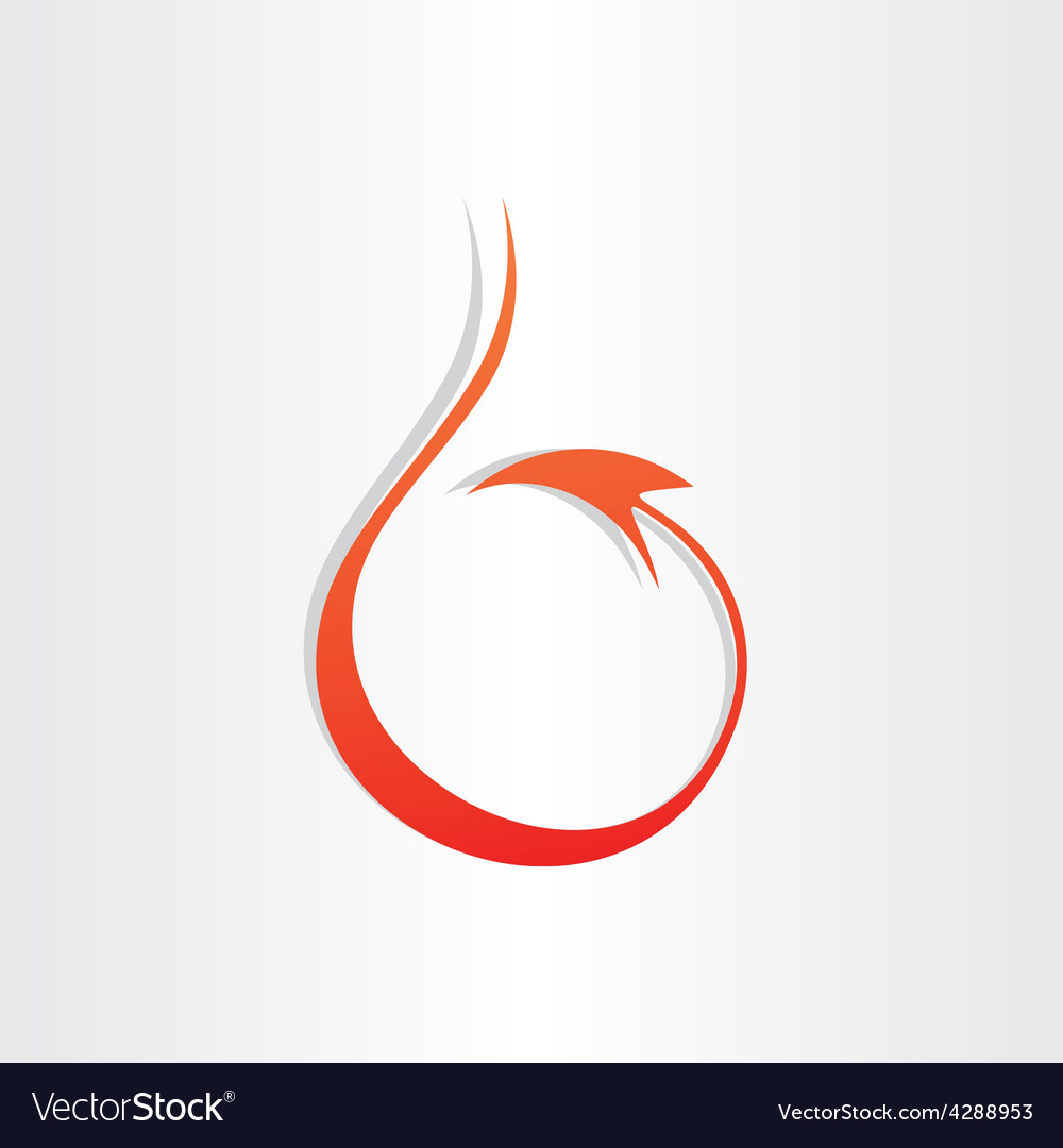 Devil tail stylized icon vector