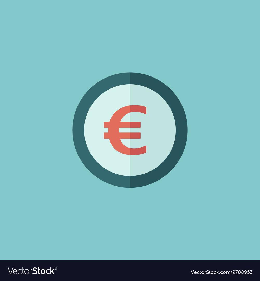 Euro flat icon vector   Price: 1 Credit (USD $1)