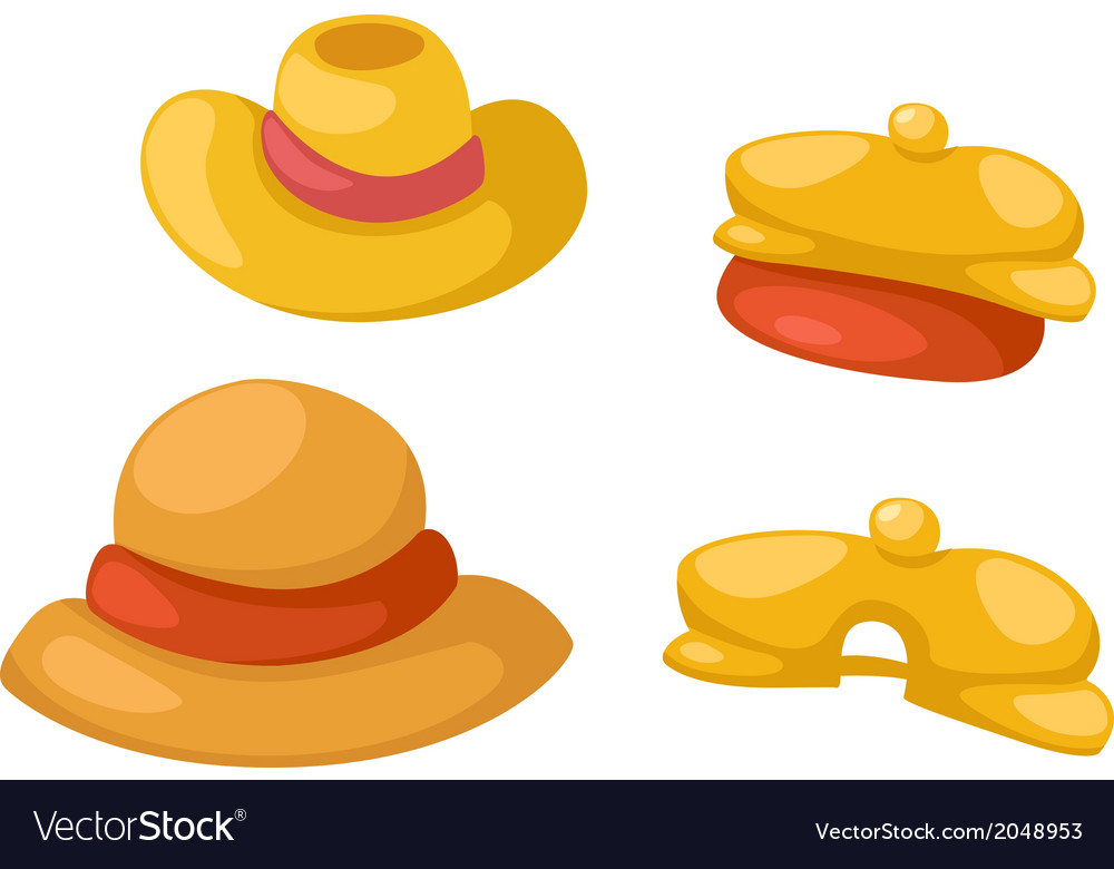 Hat isolated on white background vector | Price: 1 Credit (USD $1)