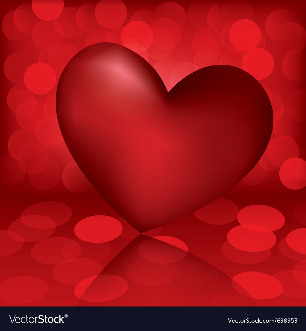 Heart valentine card vector | Price: 1 Credit (USD $1)
