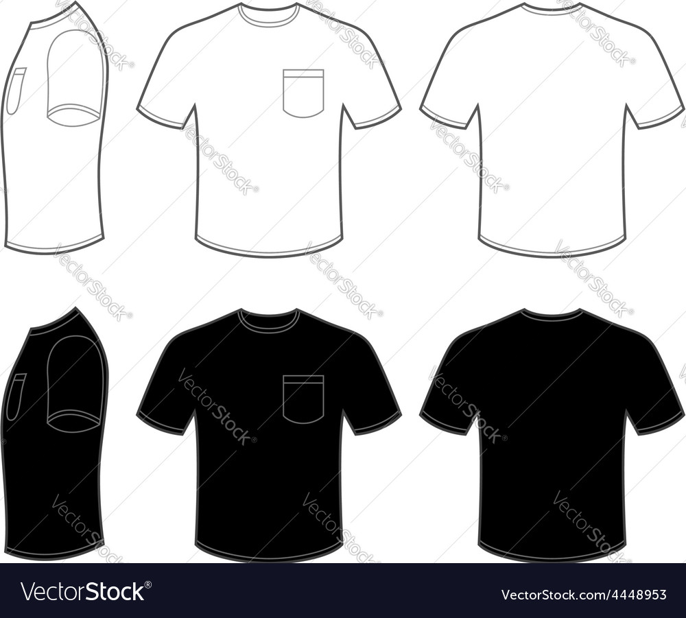 Mans t shirt with pocket vector | Price: 1 Credit (USD $1)