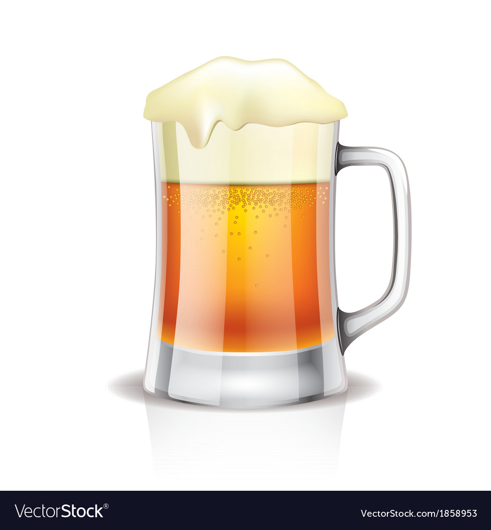 Object beer mug vector | Price: 1 Credit (USD $1)