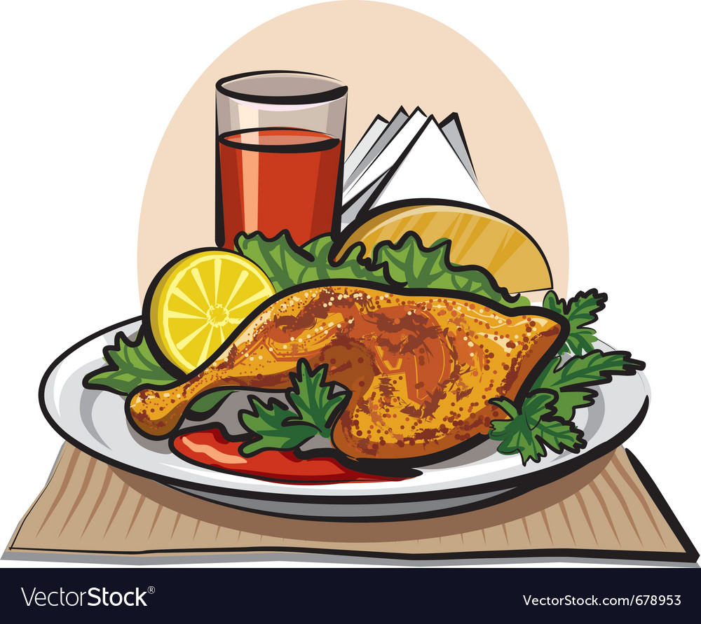 Roasted chicken drumstick vector | Price: 3 Credit (USD $3)
