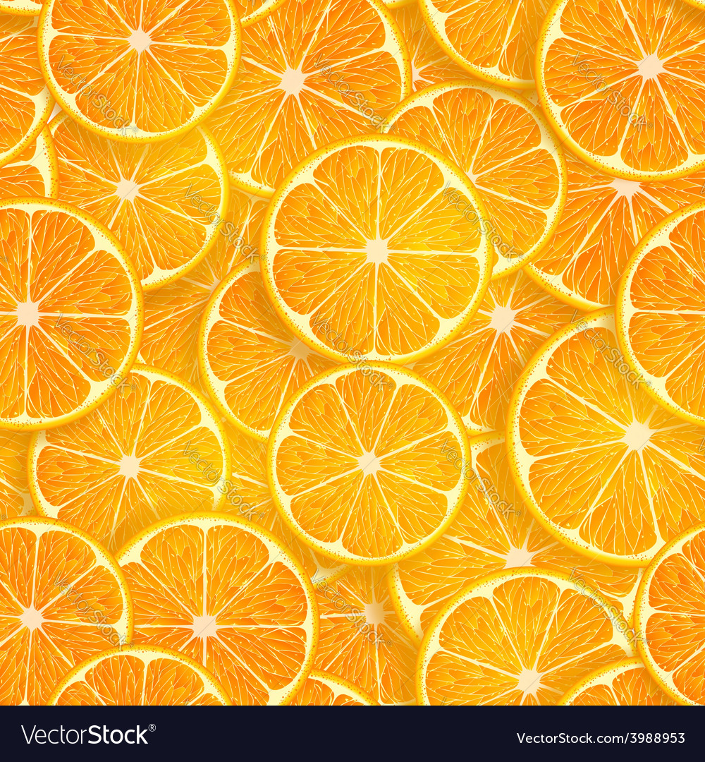 Seamless background of oranges vector | Price: 1 Credit (USD $1)