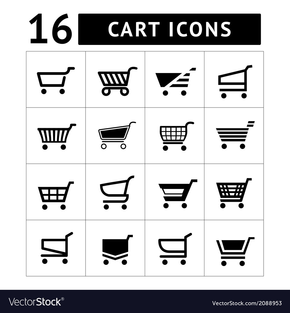 Set of shopping cart icons vector | Price: 1 Credit (USD $1)