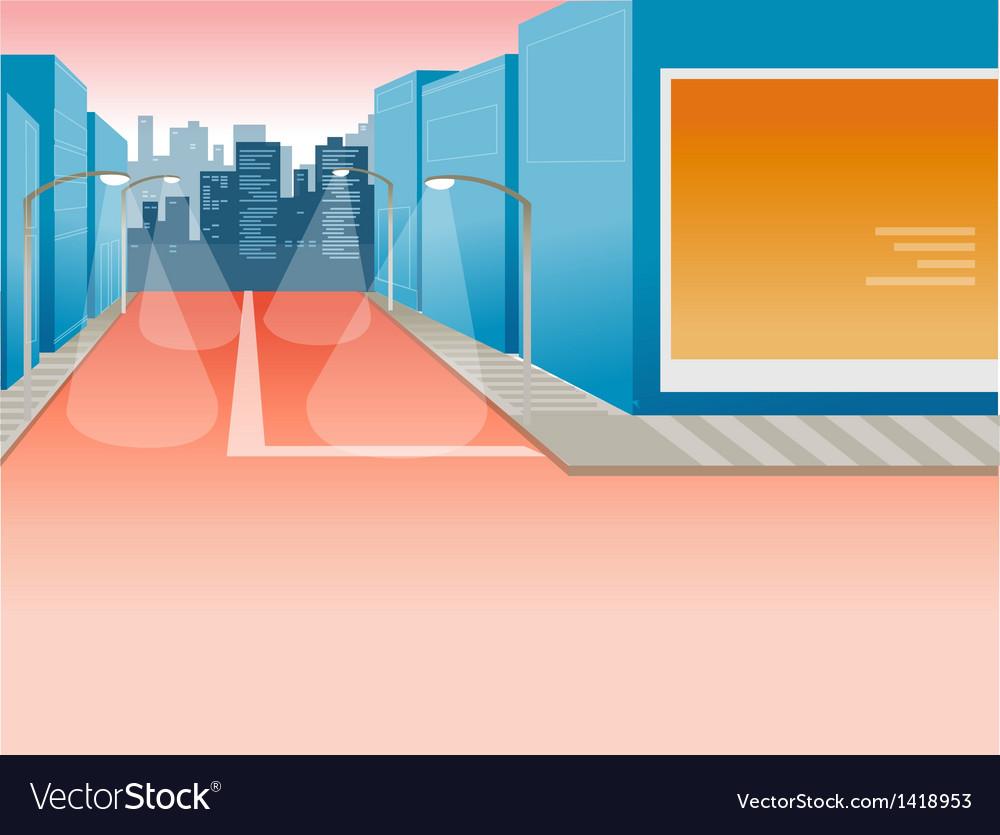 Street in big city vector   Price: 1 Credit (USD $1)