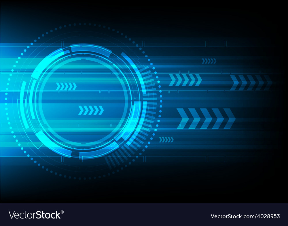 Tech circle and arrow background vector | Price: 1 Credit (USD $1)