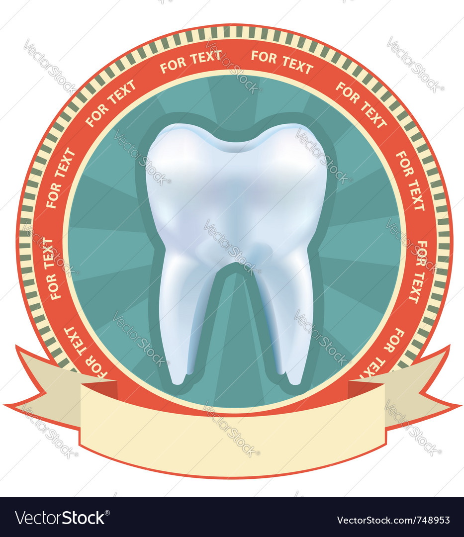 Tooth label set with mesh effect vector | Price: 1 Credit (USD $1)