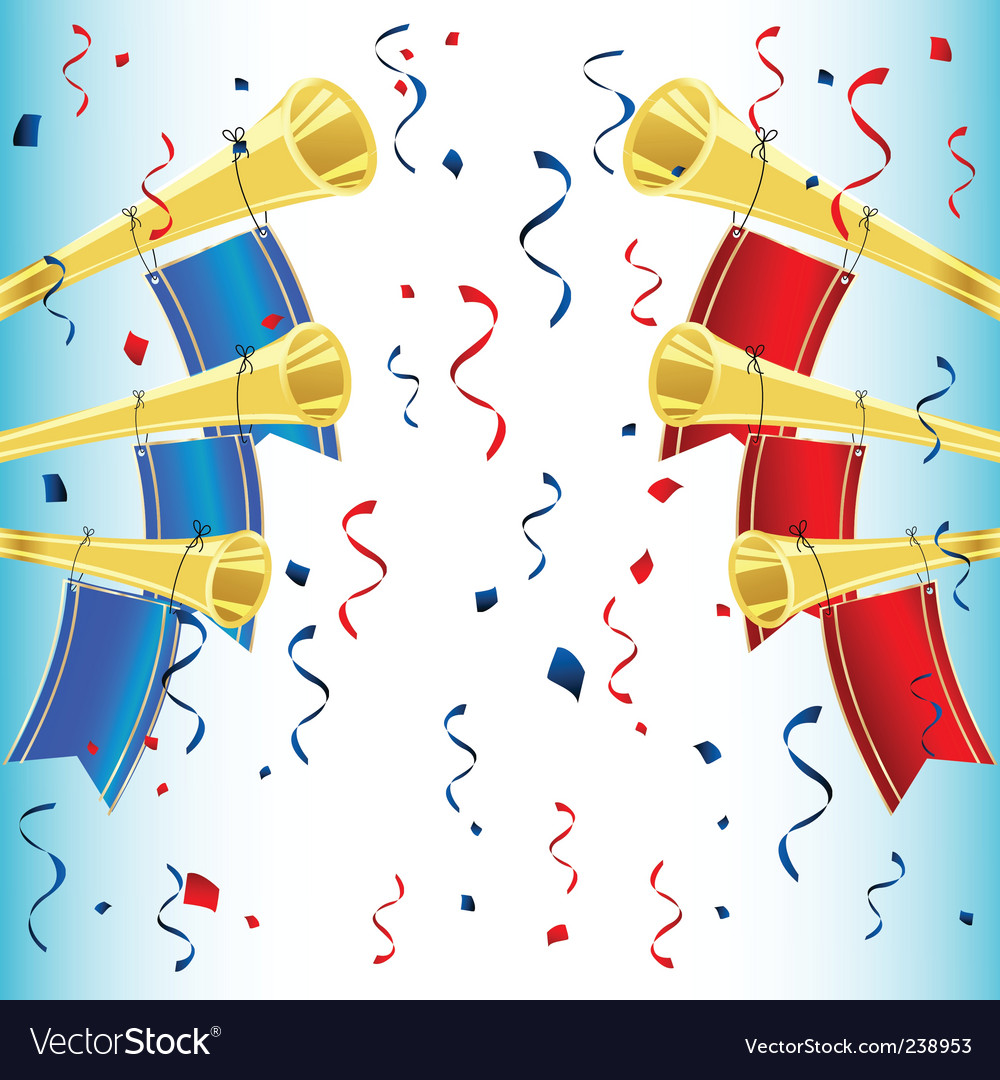 Trumpet celebration vector | Price: 1 Credit (USD $1)