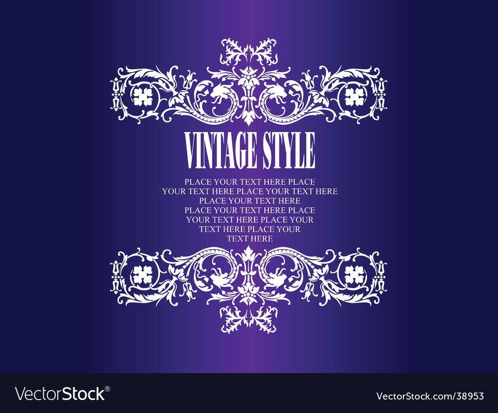 Vintage style frame vector | Price: 1 Credit (USD $1)