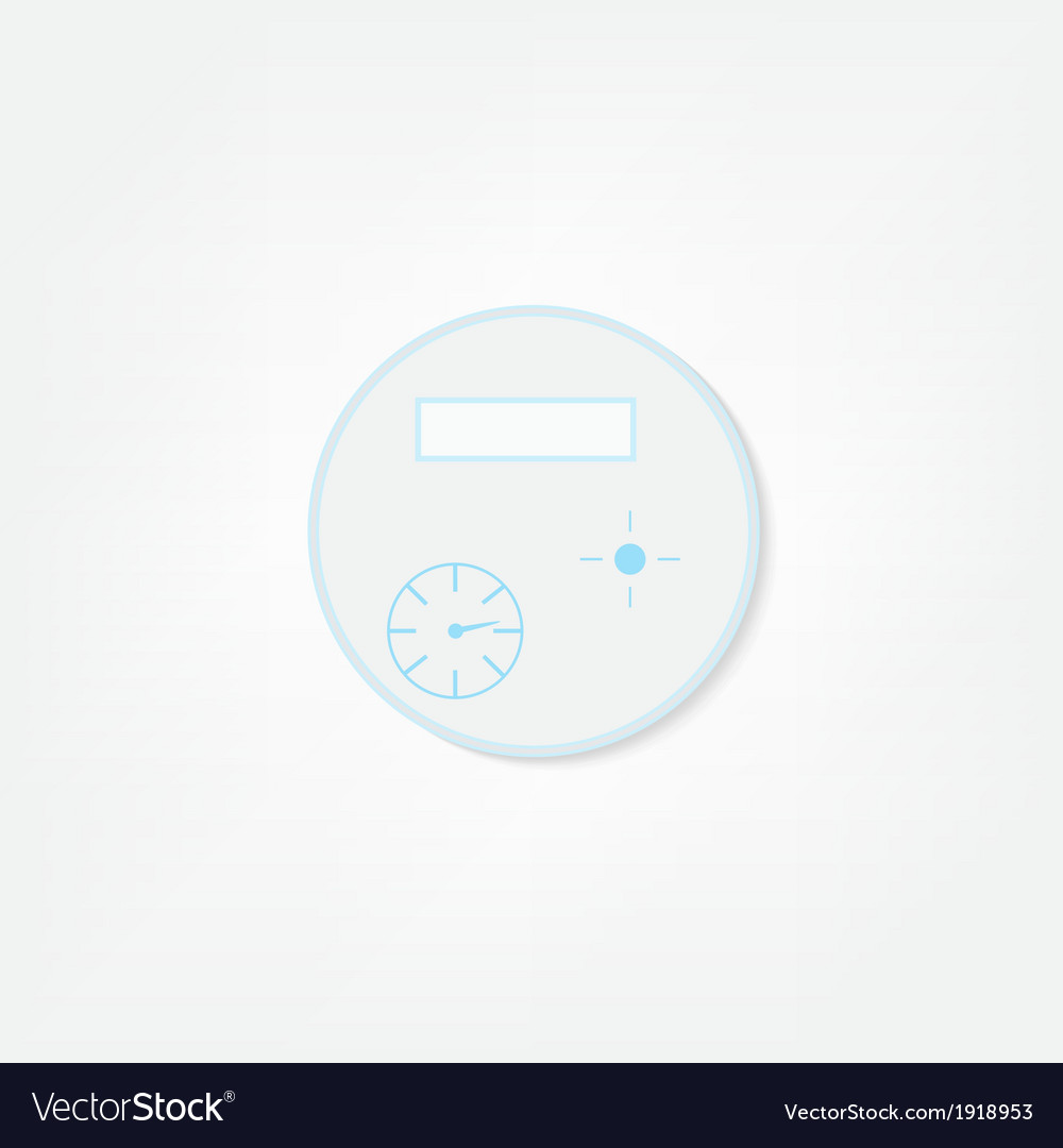 Water meter icon vector | Price: 1 Credit (USD $1)
