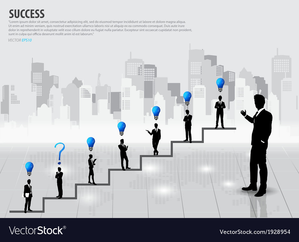 Businessman standing on graph vector | Price: 1 Credit (USD $1)