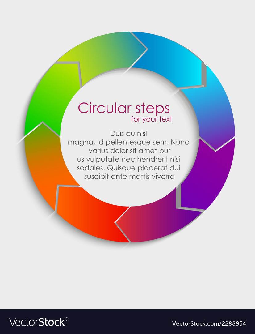 Circular progress steps vector | Price: 1 Credit (USD $1)