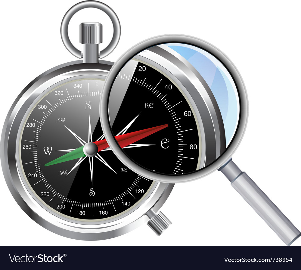 Compass and zoom vector | Price: 3 Credit (USD $3)