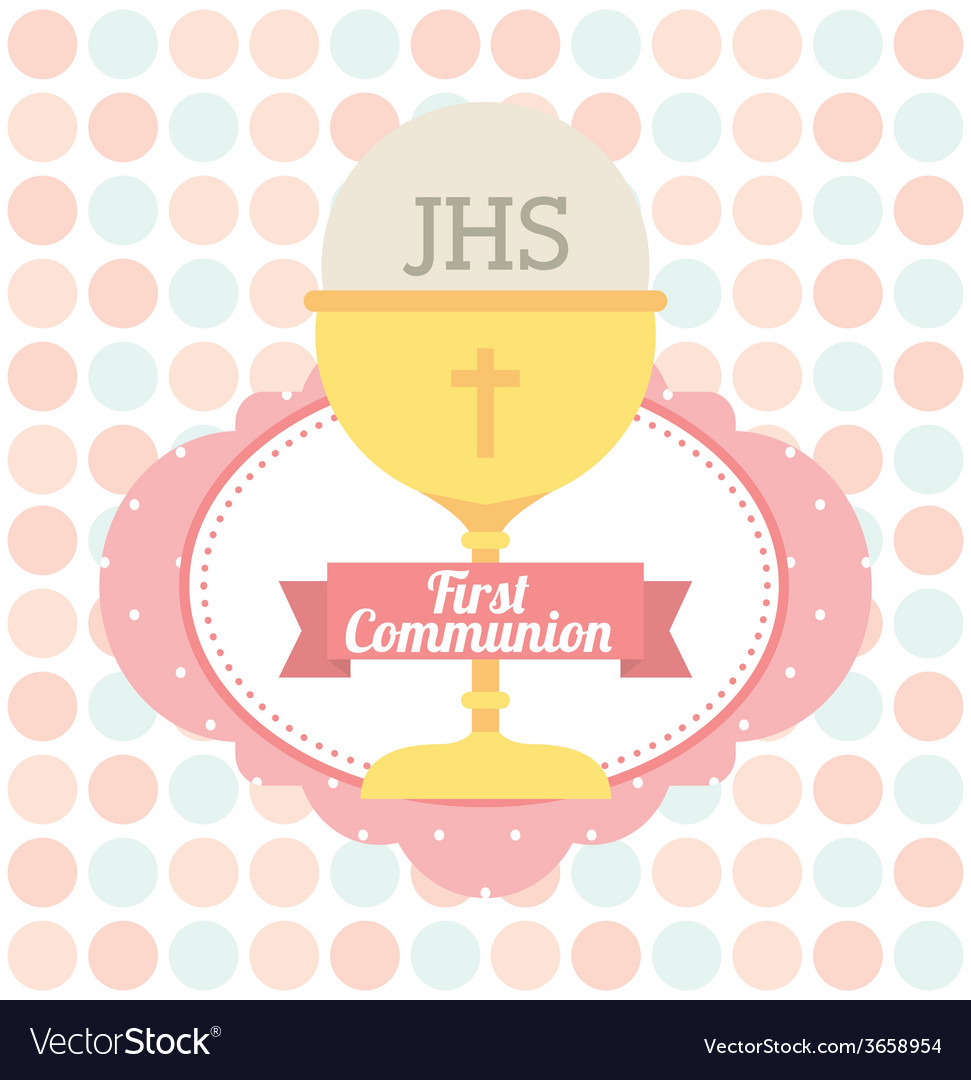 First communion vector | Price: 1 Credit (USD $1)