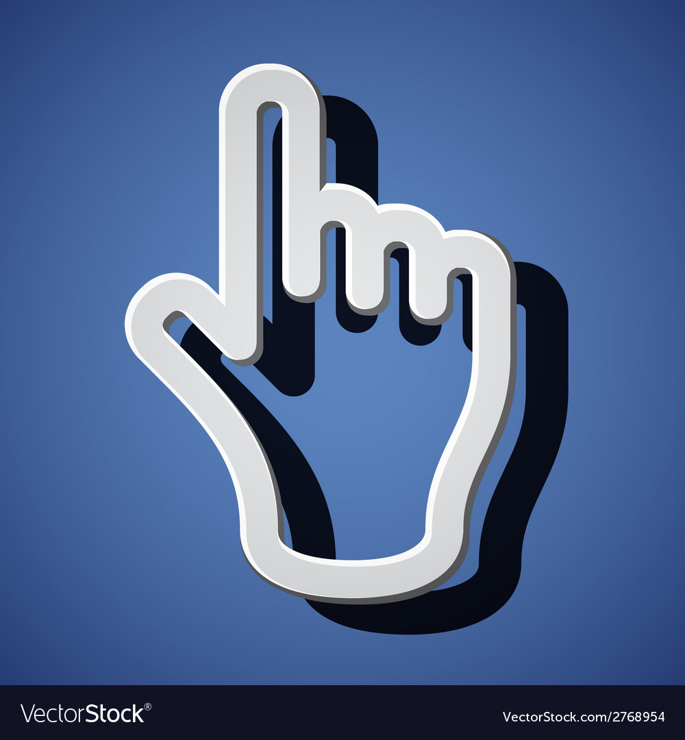 Hand with warning forefinger symbols vector | Price: 1 Credit (USD $1)