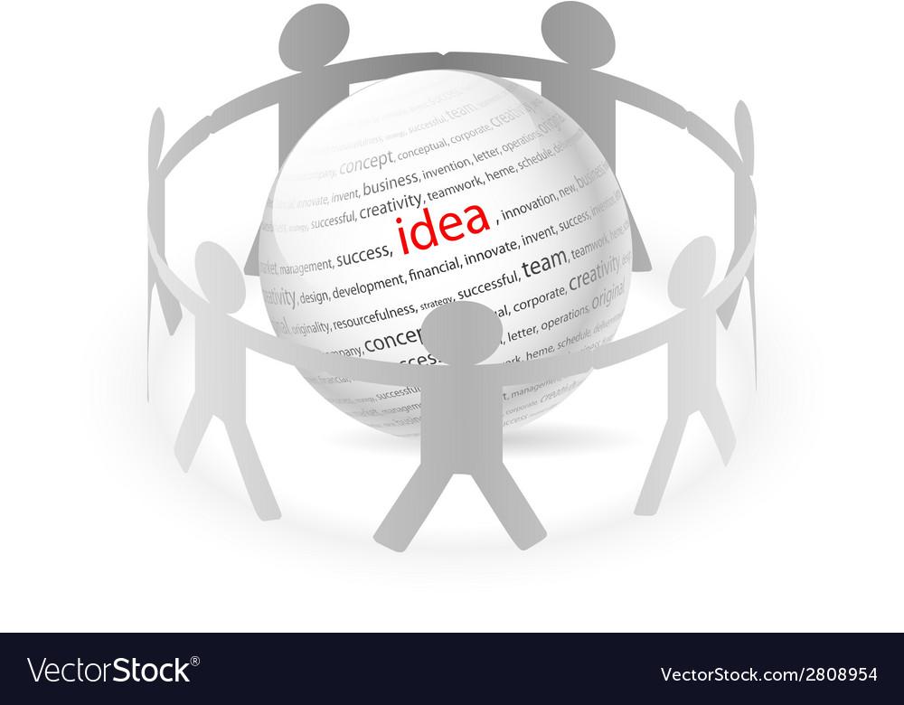 People chain idea vector | Price: 1 Credit (USD $1)