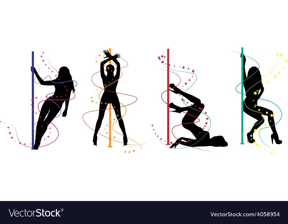 Pole dance women vector | Price: 1 Credit (USD $1)