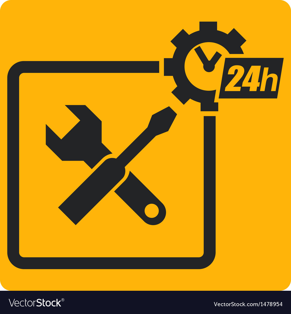 Sign with tools vector | Price: 1 Credit (USD $1)