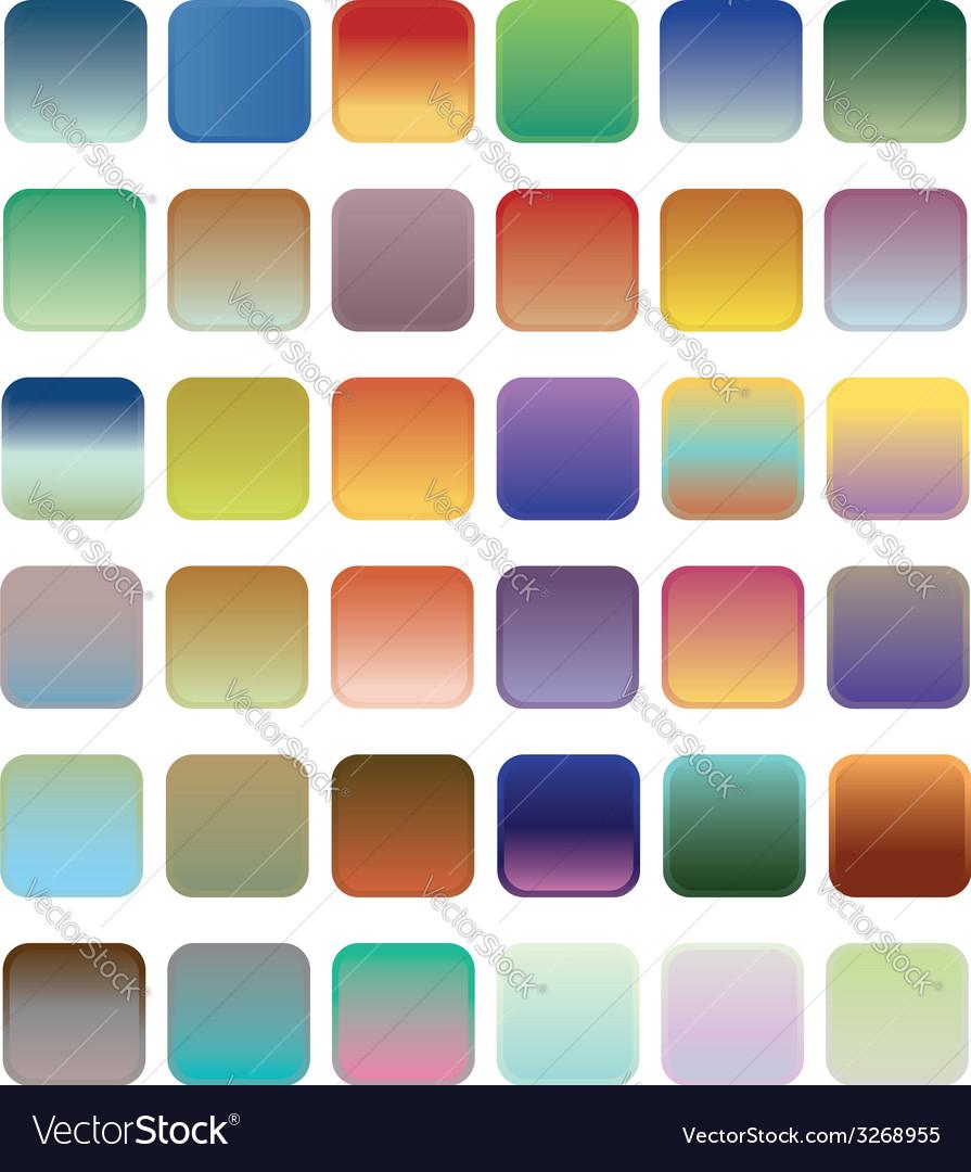 36 blank web gradient button vector | Price: 1 Credit (USD $1)