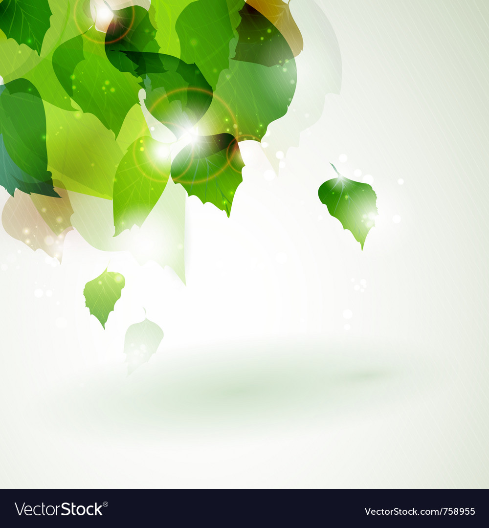 Abstract green foliage with light effects vector | Price: 1 Credit (USD $1)