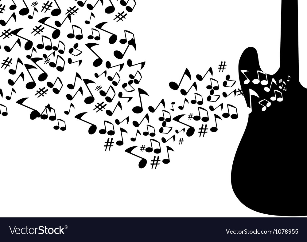 Abstract mysical background with guitar vector   Price: 1 Credit (USD $1)