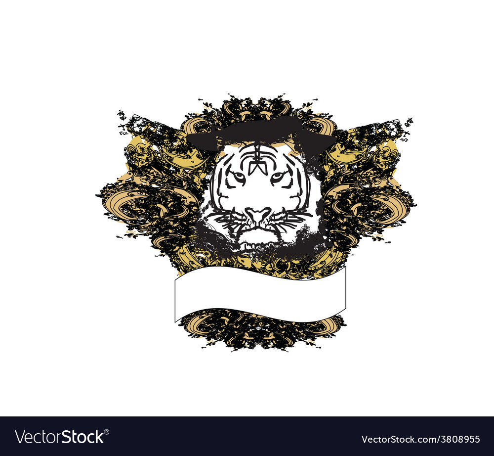Abstracted grunge tiger vector   Price: 1 Credit (USD $1)