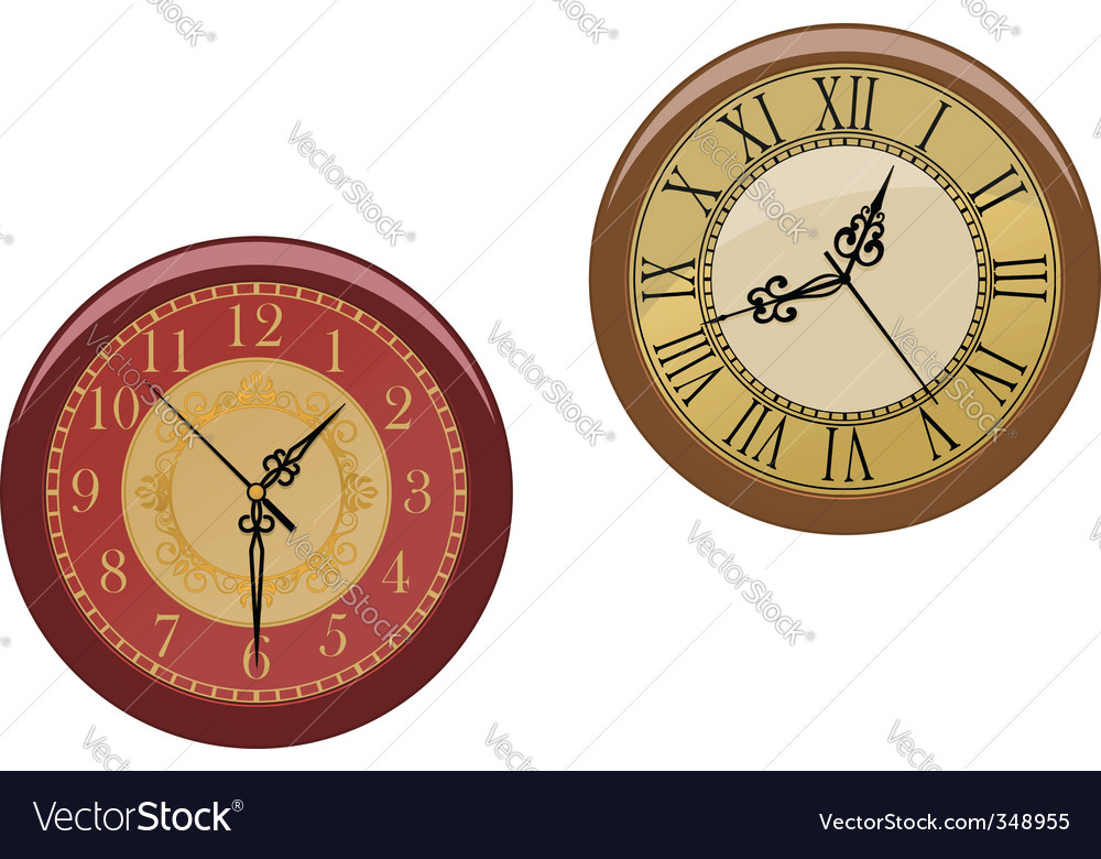 Ancient clocks vector | Price: 1 Credit (USD $1)