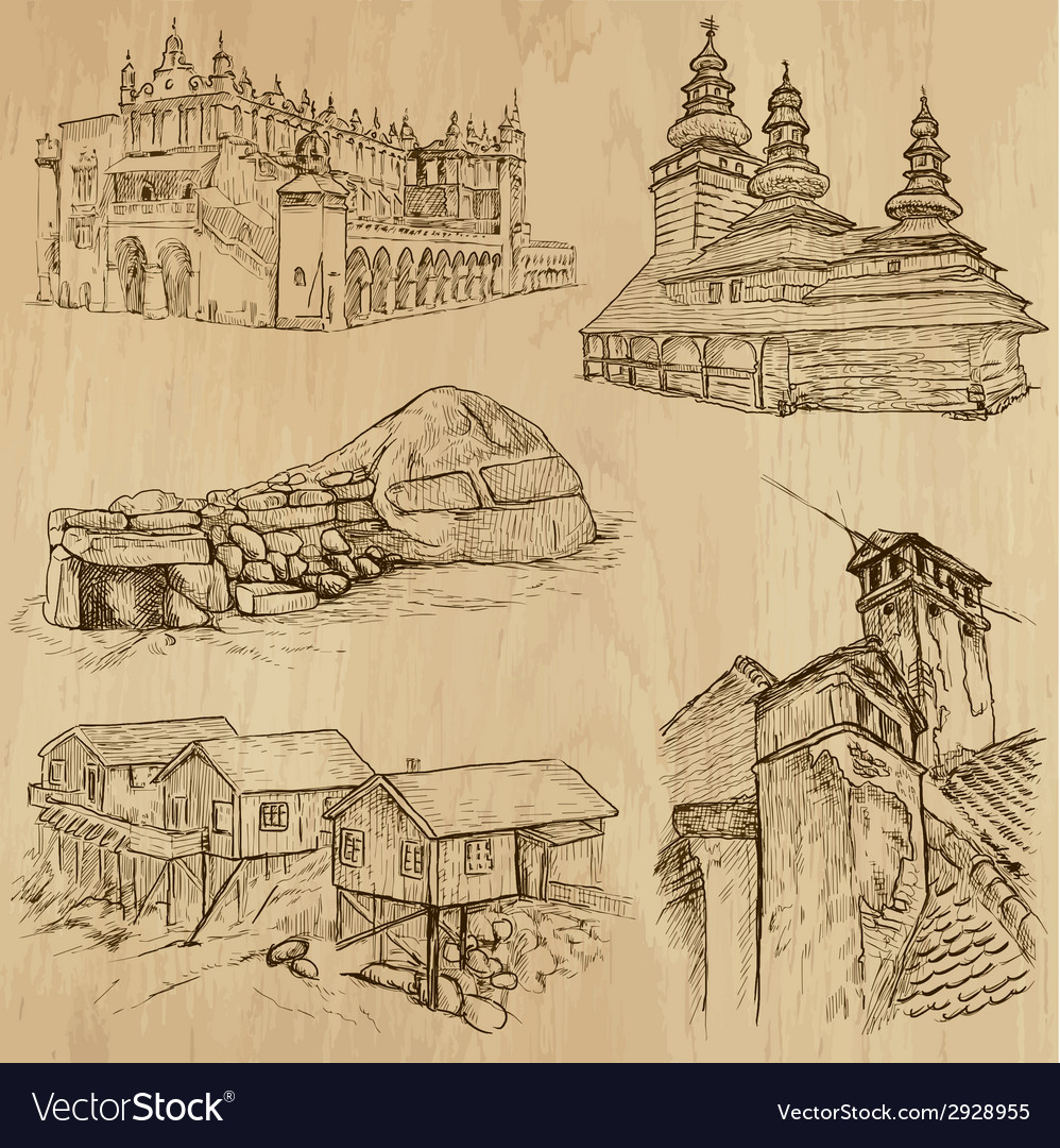 Architecture - an hand drawn vector | Price: 1 Credit (USD $1)