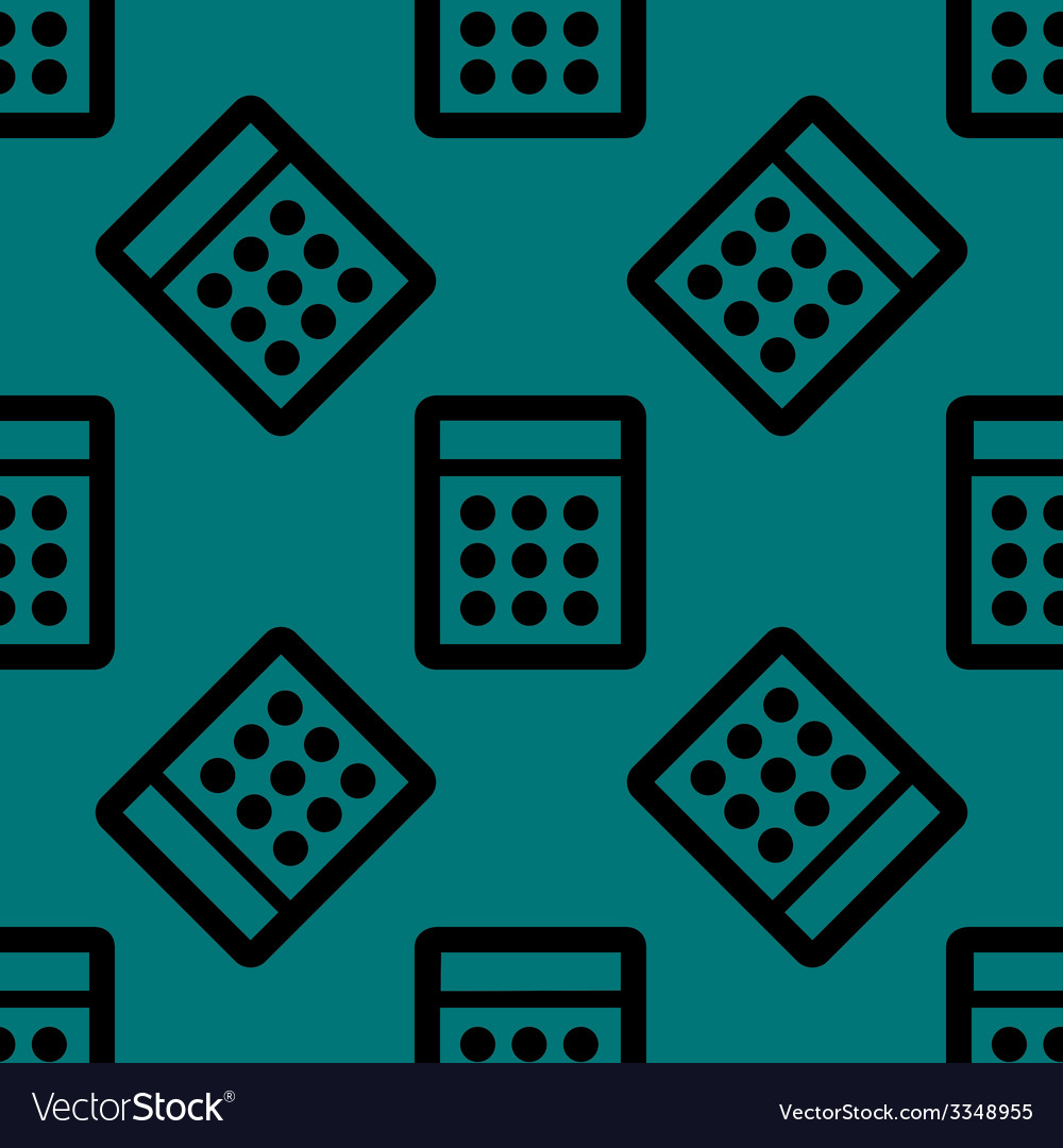 Calculator web icon flat design seamless pattern vector | Price: 1 Credit (USD $1)