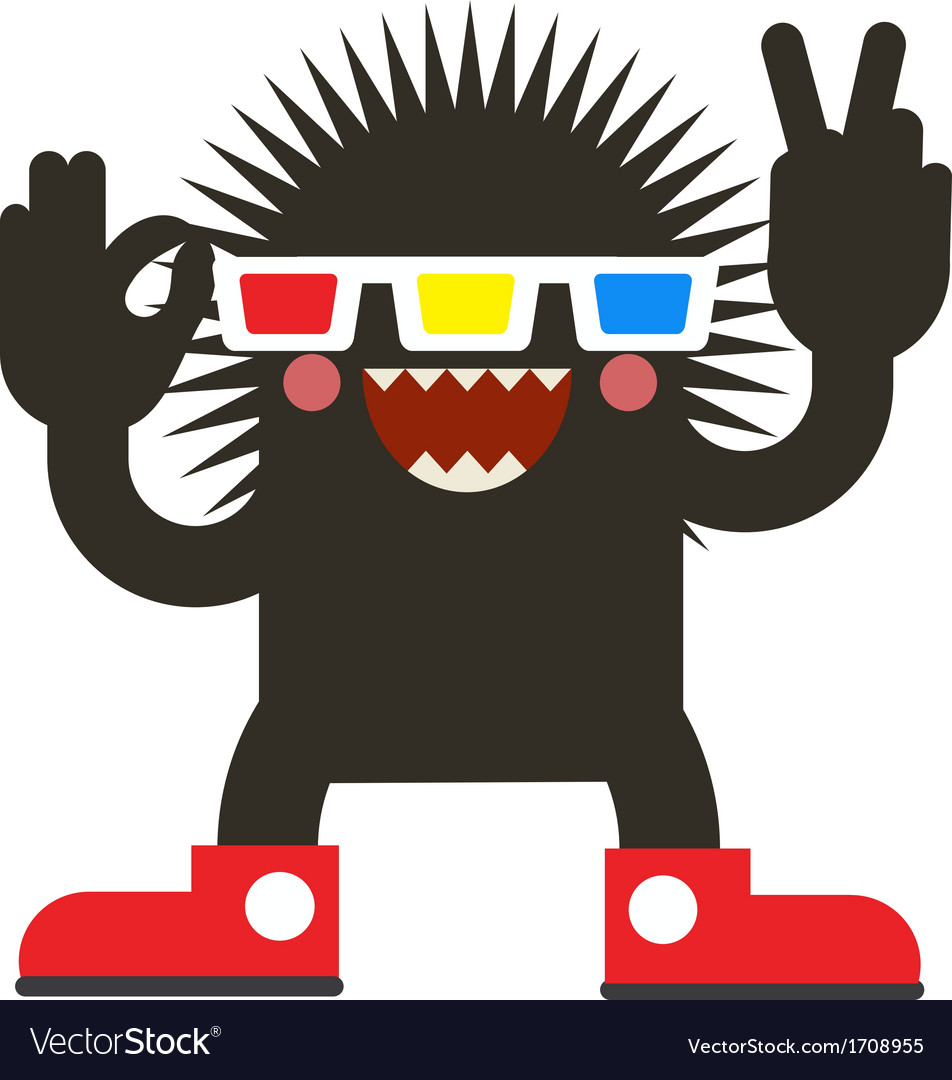 Cinema monster vector | Price: 1 Credit (USD $1)