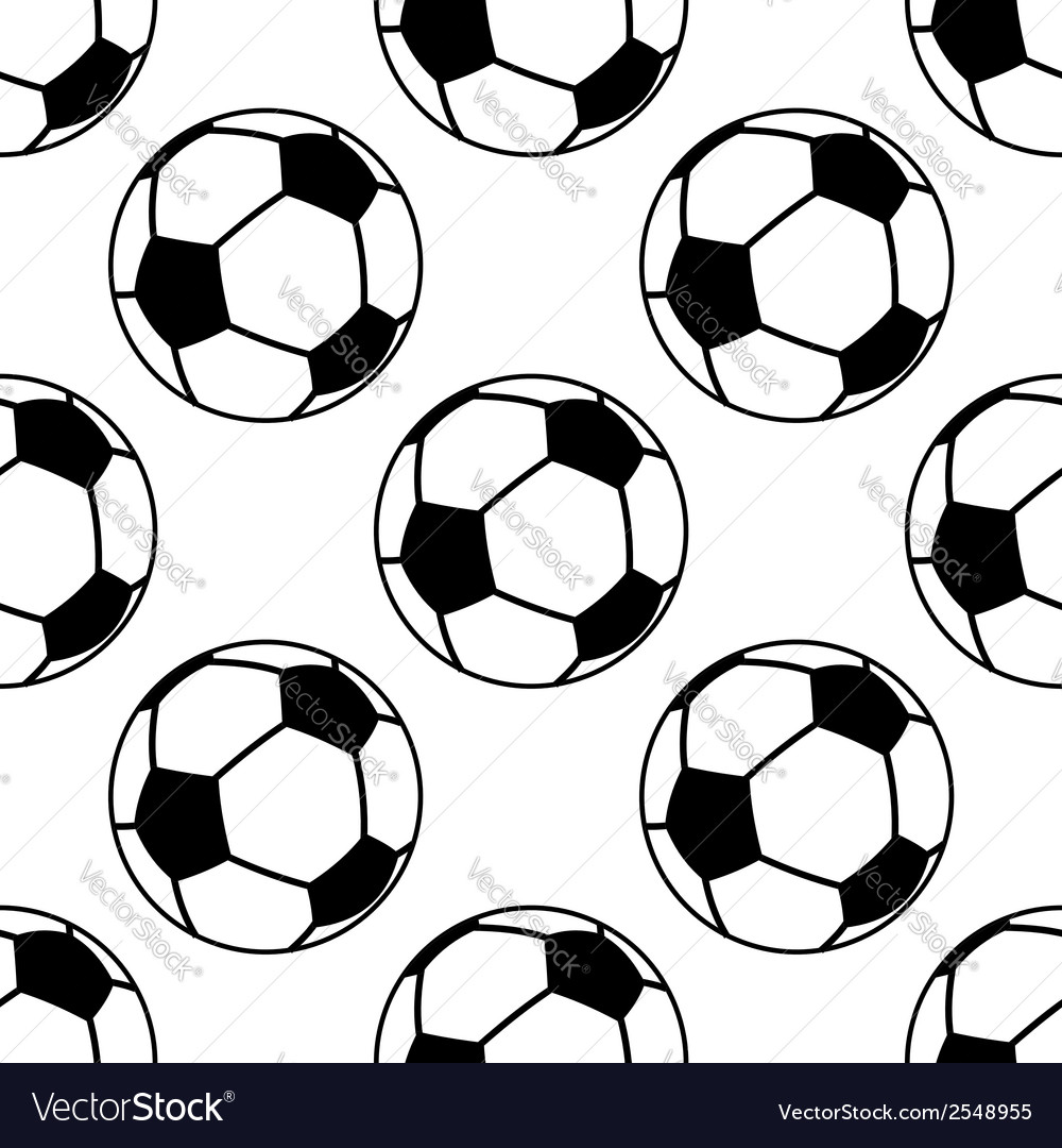 Football or soccer ball seamless pattern vector | Price: 1 Credit (USD $1)