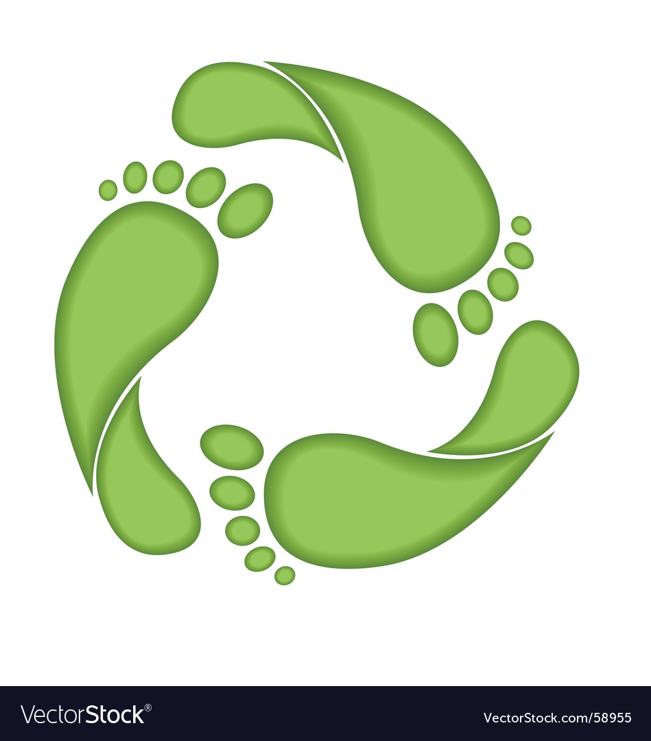 Footprint recycle sign vector | Price: 1 Credit (USD $1)